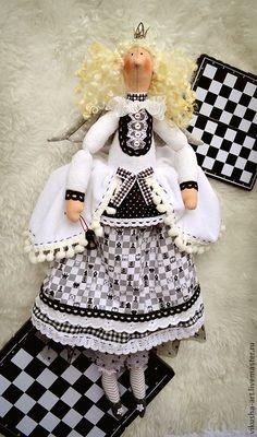 Куклы Тильды ручной работы. Ярмарка Мастеров - ручная работа. Купить Шахматная Королева. Handmade. Черный, тильда, хлопок американский
