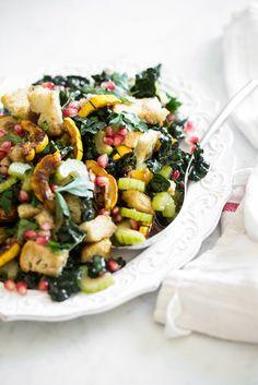 Make-Ahead Thanksgiving Panzanella — Oh She Glows Vegetarian Recipes, Healthy Recipes, Vegan Meals, Vegan Vegetarian, Salad Recipes, Dinner Smoothie, Vegan Thanksgiving, Canadian Thanksgiving, Breakfast Recipes
