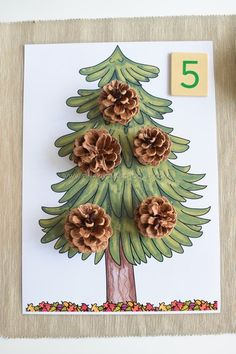 Free Pinecone Counting Printable from The Pinay Homeschooler Fall Preschool, Preschool Christmas, Kindergarten Math, Preschool Activities, Counting Activities, Autumn Activities, Classroom Activities, Toddler Activities, Montessori Math
