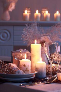 Pretty candle setting