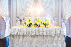 Gray Weddings, Table Decorations, Yellow, Grey, Furniture, Home Decor, Grey Weddings, Ash, Homemade Home Decor
