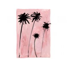 millennial pink, print with pink and palmtrees