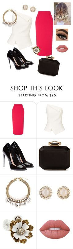 """""""Work"""" by decencyiskey ❤ liked on Polyvore featuring Roland Mouret, Alexander McQueen, Kate Spade, Betsey Johnson and Lime Crime"""