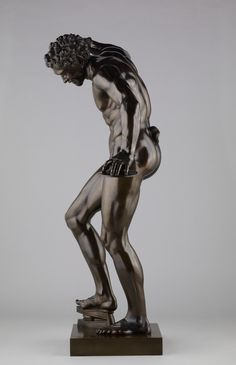 Dancing Faun, 1722-1724. Pietro Cipriani (Italian, about 1680 - before 1745). Bronze, 143.5 cm (56 1/2 in.). Cipriani's Faun is based on a Hellenistic statue that has been on display in the Uffizi Gallery in Florence since the second half of the 1600s. See marble in Tribuna: http://www.virtualiter.net/vr/tribuna/ -Getty Museum-