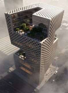 Snøhetta is making their mark on Lebanese soil with the Banque Libano Francaise& new headquarters in Beirut& Medawar District. They were recently commissioned to design the office building upon winning a two-stage international compet. Office Building Architecture, Futuristic Architecture, Amazing Architecture, Contemporary Architecture, Landscape Architecture, Interior Architecture, Architecture Facts, Interior Design, Chinese Architecture