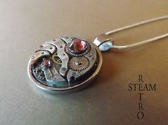 Vintage Rose Steampunk Collier - Bijoux de Steampunk par Steamretro