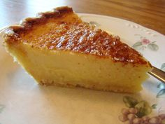 Texas Two Step Buttermilk Pie Recipe. Perfect blend of sugar, butter, vanilla, creamy, tangy and a little something extra. My new go to buttermilk pie. Might sprinkle nutmeg and sugar on top. Köstliche Desserts, Delicious Desserts, Dessert Recipes, Pie Recipes, Sweet Recipes, Cooking Recipes, Recipies, Copycat Recipes, Yummy Treats