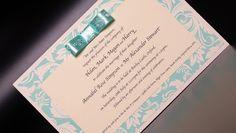 Mint floral handmade #weddinginvitation
