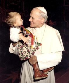 Just look at these to faces :)  Blessed Pope John Paul II