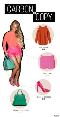 Get Beyoncé's Summery Color Blocked Look for Less | Modamob