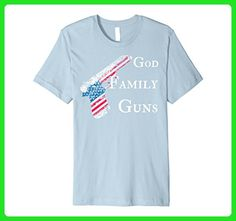 2b41f60c99 Mens God Family Gun T Shirt Patriotic Large Baby Blue - Relatives and  family shirts (