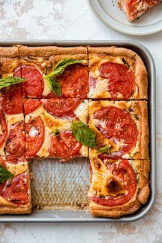 Brunchy Sheet Pan Tomato Quiche Recipe | Little Spice Jar
