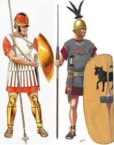 Macedonian and Roman infantry of the 2nd century BC