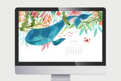 August Desktop Wallpaper by Oana Befort #freebie #wallpaper #watercolor