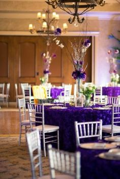 Plum and Lavendar Wedding Reception