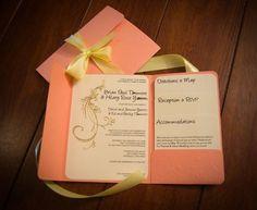 Fabulous pocket fold invitation tutorial using 8.5 x 11 paper.  Tutorial found here:  http://www.projectwedding.com/wedding-ideas/diy-wedding-challenge-pocketfold-invitation-using-8-5x11-paper