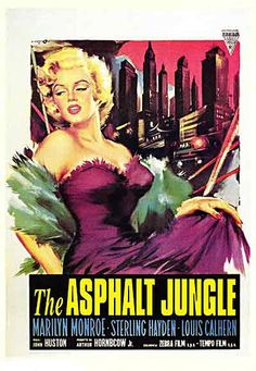 The Asphalt Jungle - Marilyn Monroe Movie Poster by Firstposter.com Movie Posters Wall, via Flickr