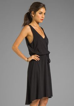 SOFT JOIE Sprout Tank Dress in Caviar - New