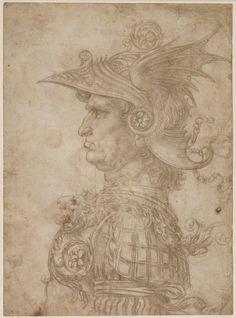 leonardo da vinci a bust of a warrior c 14751480