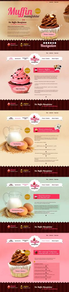 Cool Web Design on the Internet, Die Muffin Manufaktur. #webdesign #webdevelopment #website @ http://www.pinterest.com/alfredchong/web-design/