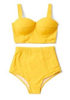 Poolside Pretty Swimsuit Bottom in Sunshine | Mod Retro Vintage Bathing Suits | ModCloth.com