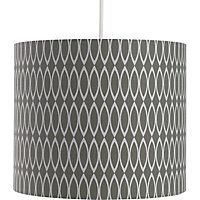 Simple yet contemporary design - the Oval Geometric Print Shade in Grey.