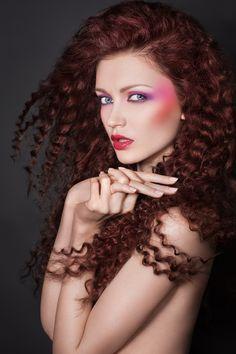 Women's Long Hair - Style - Texture - Tight Curls - Beauty by Drozdov , via Behance