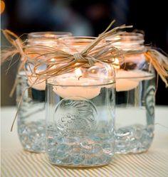 Gorgeous mason jars candles.