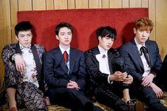 Sehun, D.O, Kai and Chanyeol EXO VOGUE magazine