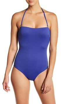 Solid Bandeau One-Piece Swimsuit Style #2360-EVYC