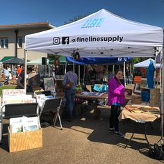 Booth is setup!  Come see us! #rustonla #rustonarts #rustonmakers #rustonmakersfair #railroadfest  #finelinesupply