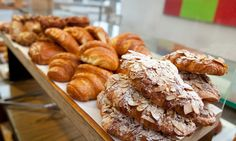 Piles of fresh pastries at Röckenwagner Bakery.