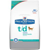 Ask us for a bag of Hills T/D today..it comes in two sizes(large and small) for your canine, and its also available in feline formula.  Once your pets teeth are cleaned you can use the T/D to help slow down the formation of tartar.