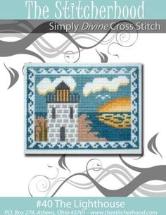 Lighthouse Nautical Cross Stitch Pattern