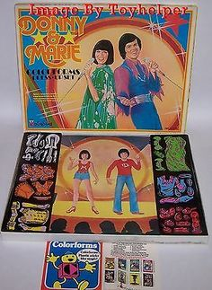 Donny and Marie colorforms - Google Search