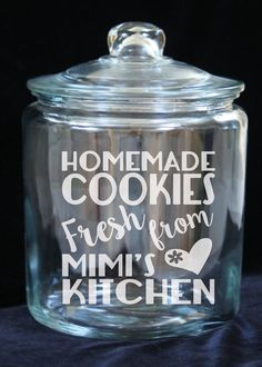 1 Gallon Glass Cookie Jar Homemade Cookies Fresh by JoyousDays