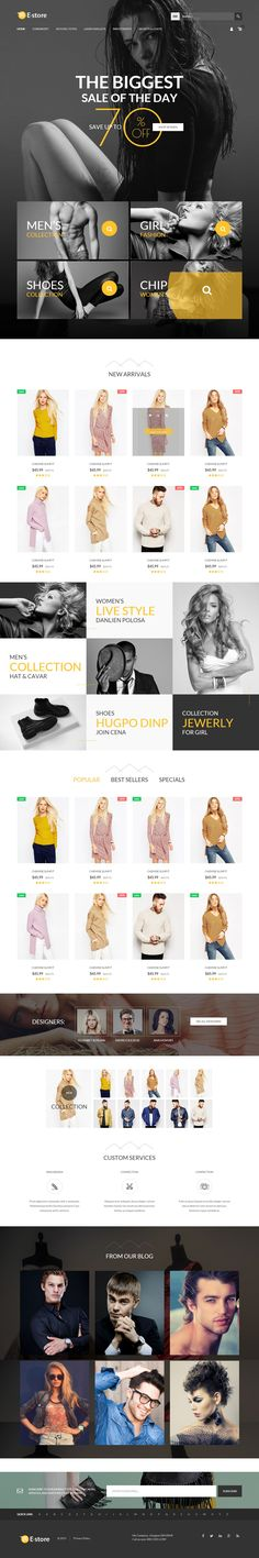 EStore Creative Responsive #Magento Theme for Amazing #eCommerce #Website