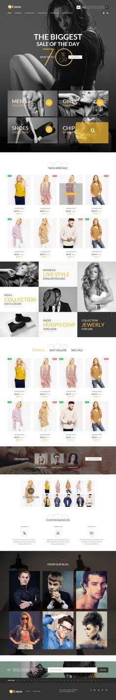 EStore Creative Responsive #Magento Theme for Amazing #eCommerce #Website