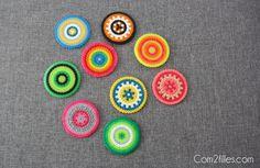 Voici une idée facile à réaliser... Des dessous de verres en perles à repasser... Ludique et pratique, vous n'avez plus qu'à vous y mettre !