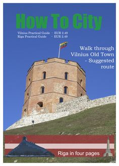 Ad for Vilnius and Riga Practical Guides by How To City. (Not the actual cover.)