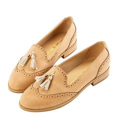 Grace giftGrace gift 官方購物網站 - 流蘇雕花漆皮樂福鞋