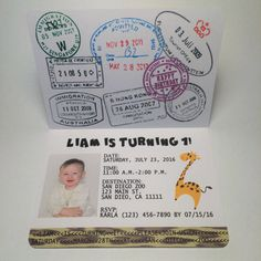 Safari passeport Invitation  Safari Kids par KarlaBrownDesigns