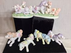 6PC Vintage My Little Pony G1 Porcelain Figurine Hand Painted LOT RARE HTF 1985  | eBay