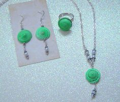 She Sells Sea Shells    Jewelry Set    Necklace   by LeftTDesigns, $28.50