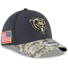 New Era Chicago Bears NFL16 Sideline Salute To Service Performance 39THIRTY  Flex Fit Hat 294fbf78d