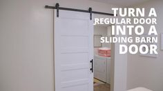 Turn an ordinary door into a farm-chic sliding barn door with these easy steps.