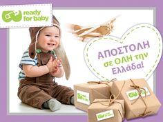 Όπου και αν βρίσκεστε στη Ελλάδα, η παραγγελία σας από το www.readyforbaby.gr θα φτάσει στο σπίτι σας!! Και μην ξεχνάτε: Για αγορές άνω των 59€, σας χαρίζουμε τα έξοδα αποστολής! ;)