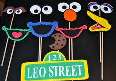 Sesame street inspired photo booth props by craftingwithkiddos, $35.00