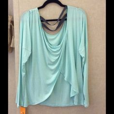 NWT!! Champion long sleeve top NWT!! Champion long sleeve shirt in Ice Fall Blue with open back Champion Tops Tees - Long Sleeve