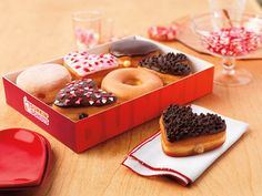We're spreading the love with our new heart-shaped Cookie Dough Donut and with the exciting return of the Brownie Batter Donut!